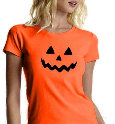 HALLOWEEN T-SHIRT Damen orange Gr.S