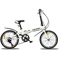 YEARLY Adultos bicicleta plegable, Bicicleta plegable Variadores de velocidad Estudiante Rueda pequeña Bicicleta de regalo