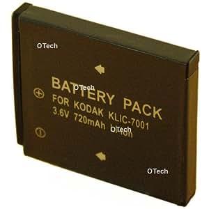 Otech D044SN Batterie pour Appareil Photo Numérique de type Kodak Klic 7001 3,6 V