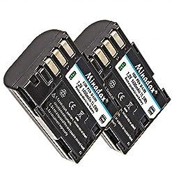 2 X Batería Li-ion Minadax Para Pentax K-3, K-5 Y K-7 - Como El D-li90 Batería