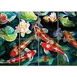 WATER FISH POND KOI CARP NEW GIANT ART PRINT POSTER PLAKAT DRUCK G1530