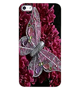 ColourCraft Butterfly & Flowers Design Back Case Cover for APPLE IPHONE 4S