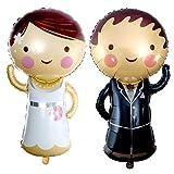 Vordas Mr. & Mrs. Folienballon - Brautpaar Folienballon, Geeignet für Verlobung, Partys, Hochzeiten, Dekorationen (Größe: Ca.90×40 cm )
