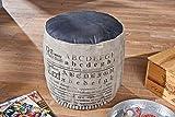 Links 86300350 Sitzhocker Colona, canvas und Leder, 40 x 40 x 45 cm, braun / schwarz - 6