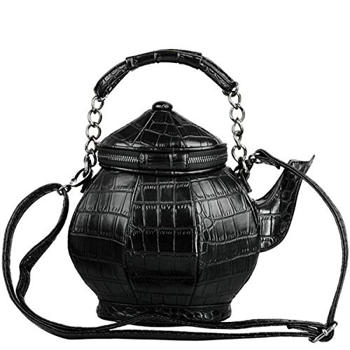TOOGOO Interessante Gothic Tee Kanne F?rmige Handtasche Handtasche Umh?nge Tasche Damen Handtasche Schulter Tasche