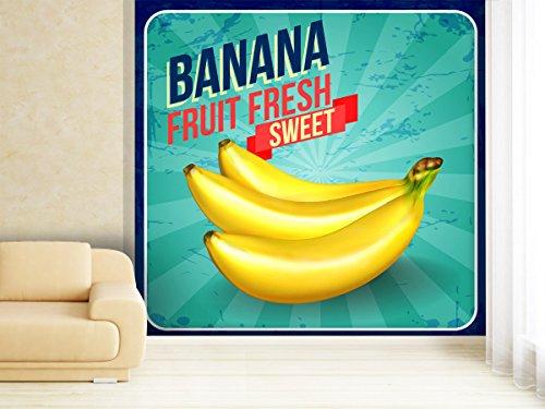 Saftige Kokos (Fototapete Sweet Banana - weitere Größen und Materialien wählbar - DEUTSCHE Profi QUALITÄT von Trendwände)
