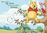 Tapetokids Fototapete - Disney Winnie Pu Bär Ferkel - Vlies 104 x 70,5 cm (Breite x Höhe) - Wandbild Baum Wald Bienen