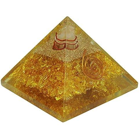 Harmonize avventurina piramide Orgonit cristallo Orgon Chakra Balancing terapia Reiki energia produttori, Cristallo, Gelb (Aventurine), RED GESCHENK