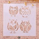 Zhuotop Schablone für Malerei und Airbrush, zum Basteln, für Kinder, Design Christmas4 08