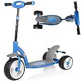 Billy: Drei-Rad Kinder Roller mit Doppelbremse Scooter Mango BL203 BLAU Höhenverstellbar