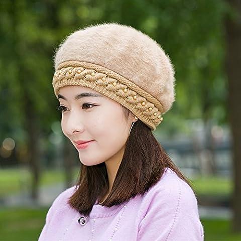 Frauen Beret Winter Warm Knit Hut Wolle Schnee Ski Caps