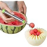 CHIC-CHIC Couteau à Fruit Cuillère à Fruit Cuillère à Patèque Melon Double Usage Multifonctionnel Coupant Fin en Inox