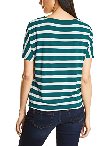 Street One Damen T-Shirt Mehrfarbig (Teal Green 21270)