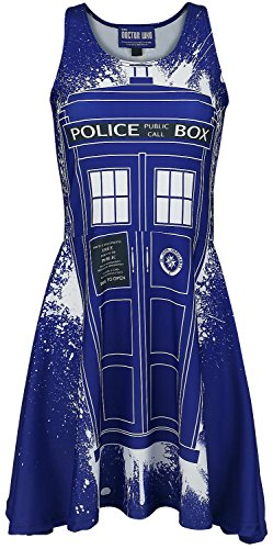 Doctor Who Tardis Graffiti Kleid multicolour L