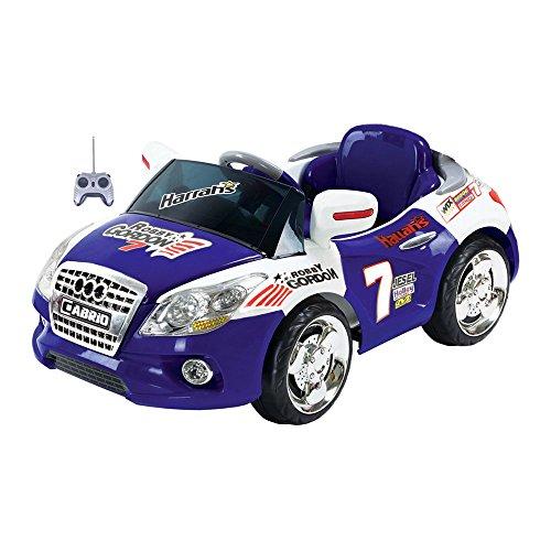Mario Schiano Auto Elettrica Cabrio Blu bambino 6V con radiocomando