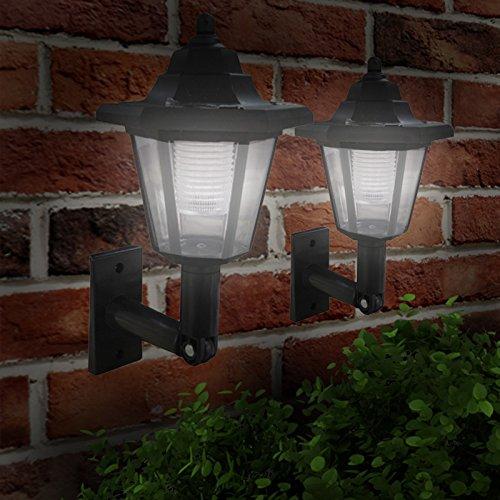 babz-2-x-led-solar-power-wall-lantern-lamp-sun-lights-black-outdoor-mount-garden