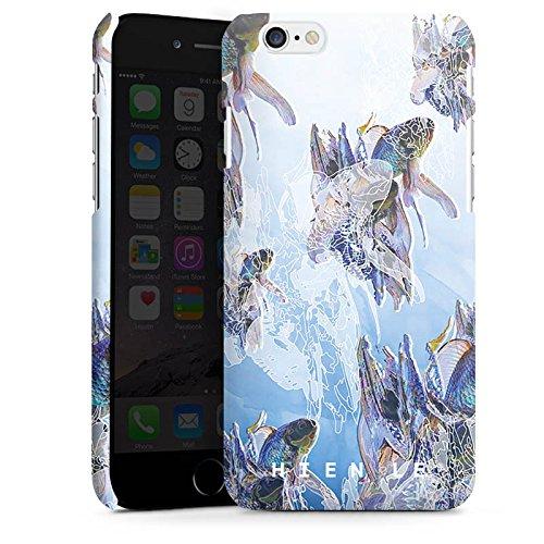 Apple iPhone X Silikon Hülle Case Schutzhülle HIEN LE Goldfisch Fische Premium Case matt