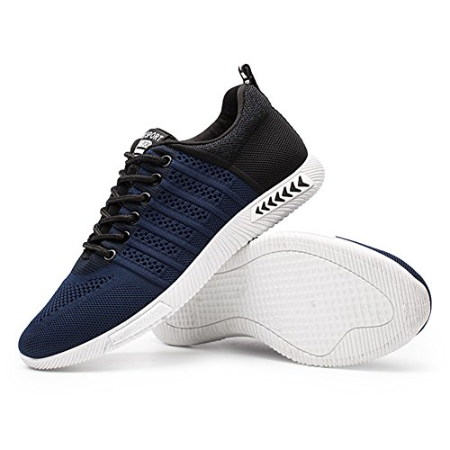 Juleya Uomo Scarpe da Ginnastica Trekking Sneakers Sportive Fitness Casual all'Aperto Blu