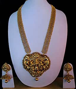 One Gram Gold Plated Traditional Long Haram Gold Design Nagas Jewellery Buy Online At LittleFingers