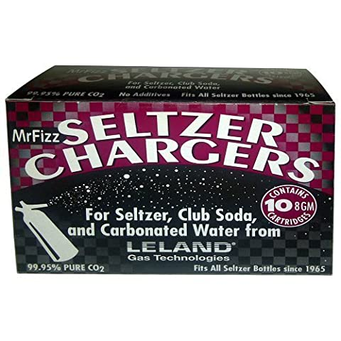 100 Leland (LE10 CO2) CO2 soda chargers - 8g C02 seltzer water cartridges - 10 boxes of 10 by Leland