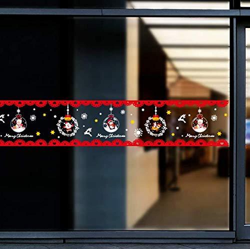 Weihnachtsmann Fenster Aufkleber Vinyl DIY Wandtattoos für Wohnzimmer Schlafzimmer Shop Glas Neujahr Dekoration 158 * 13 cm