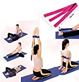 Huayang D Ring Yoga Pilates Gurtband Band Equipment Taille Leg Übung Fitness Abbildung Props (lila)