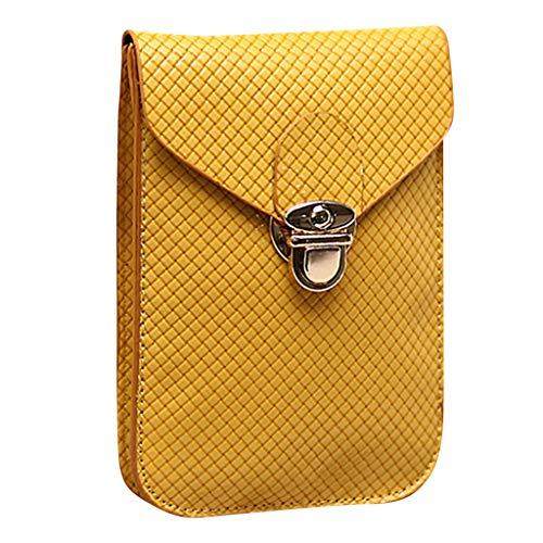 LILIGOD Damenmode Diagonal Mini Bag Handy-Paket Diagonal-Paket Outdoor Reisen Einkaufen Kleine Tasche Brieftasche Messenger Bag Umhängetasche Crossbody Handtaschen Damenhandtaschen (Chanel Leinwand Bild)