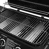 Broil-master BBQ Gasgrill | Edelstahl Deckel, Grillstation mit 3 Brenner | Grillfläche 61 x 35 cm | Farbe: Schwarz - 3