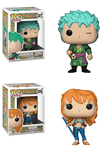 Funko POP! One Piece: Roronoa.Zoro + Nami – Anime Stylized Vinyl Figure Bundle Set NEW