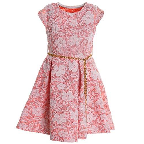 BEZLIT Mädchen Kinder Spitze Kleid Peticoatkleid Sommerkleid Festkleid Kostüm 20335 Pink Größe 104