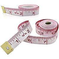 2Pack cuerpo de medición de la regla de costura sastre cinta métrica suave flexible - 79 pulgadas / 200 cm Alliswell (Rojo)
