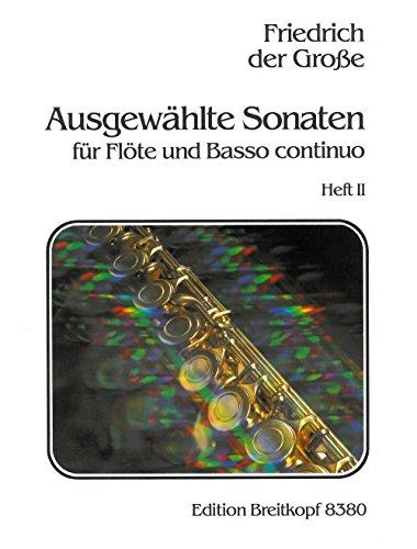 Ausgewählte Sonaten für Flöte und Klavier Heft 2: Nr. 6 - 10 - Breitkopf Urtext (EB 8380) (Sechs Sonaten Für Zwei Flöten)