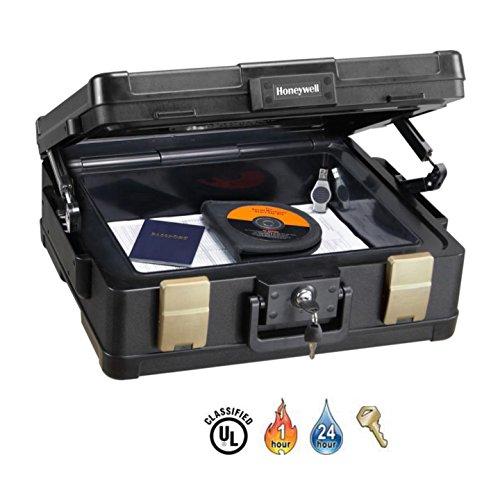 Honeywell 1104G Wasserdichter feuerfester Dokumentenkassette, 11 L, 60 Minuten Schutz mit Pneumatische Sicherheitsscharniere - 4