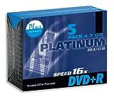 Platinum DVD Rohlinge, DVD+R im Jewel Case, 5 Stück, 4,7 GB, bis 16x 100015