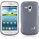 [ Samsung Galaxy Trend Plus Case ] - Funda JammyLizard De Silicona Pearly Gel Efecto Nacarado Metalizado Back Cover, NEGRO