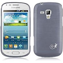 JAMMYLIZARD | Cover custodia PEARLY GEL in Silicone con Effetto Metallizzato per Samsung Galaxy Trend Plus e Galaxy S Duos 2, NERO