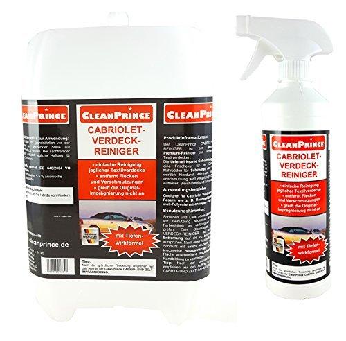 cleanprince-cabriolet-verdeck-reiniger-25-litro-Pulitori-Hood-cabrioverdeckreiniger-cabrioletdach-cabrio-verdeckreiniger-tetto-in-tessuto-AUTO-Nastro-cotone-baumwoll-polyestermischungen-acrylfasern