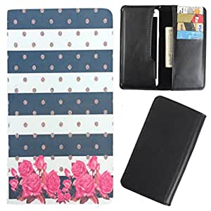 DooDa - For iBall 4.5d Quadro PU Leather Designer Fashionable Fancy Case Cover Pouch With Card & Cash Slots & Smooth Inner Velvet