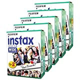 Fujifilm Instax Wide Instant Films for Fuji Instax Wide 210 200 100 300 Pack of 5 at amazon