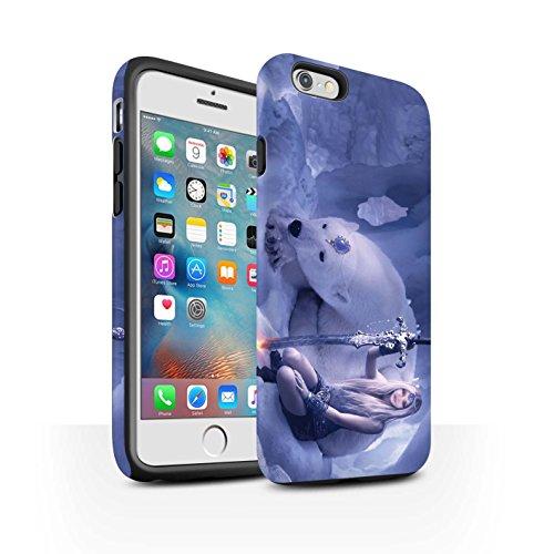 Officiel Elena Dudina Coque / Matte Robuste Antichoc Etui pour Apple iPhone 6+/Plus 5.5 / Pack 9pcs Design / Super Héroïne Collection Reine des Glaces