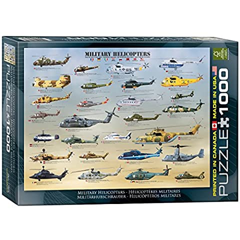 Eurographics Military Helicopters Puzzle (1000 Pieces)