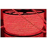 Water Proof 100 METER LED (STRIP LIGHT,COVE LIGHT) Rope Light Color: RED With Adapter