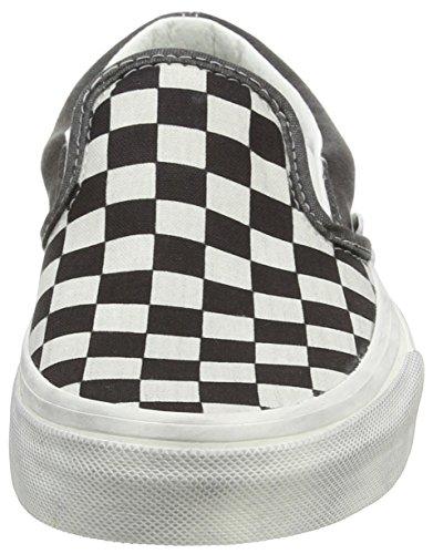 Vans U CLASSIC SLIP-ON WOOL SPORT Sneaker basse, Uomo Nero (Black (Overwashed - Black/Check))