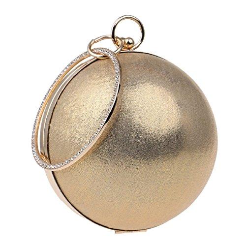 Abbigliamento Casual Rotondo Spalla Sacchetto Del Messaggero Bello Borse Le Donne Il Sacchetto Del Pranzo Gold