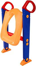 VelKro Kid's Toilet Potty Trainer Seat Toddler with Ladder Step up Training Stool - (Colour May Vary)