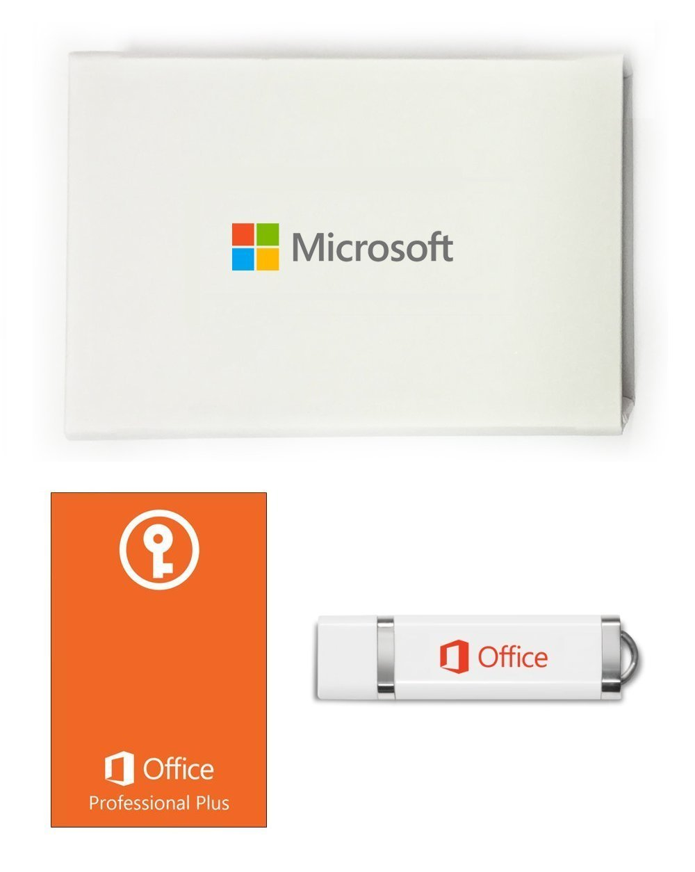 microsoft office 2019 professional plus usb with product key card & box