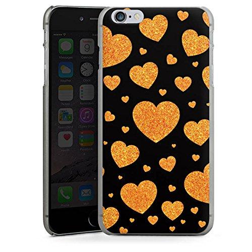 Apple iPhone X Silikon Hülle Case Schutzhülle Liebe Love Herz Muster Hard Case anthrazit-klar