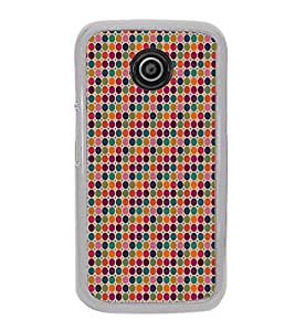 ifasho Animated Pattern littel and Big colourful Circle Back Case Cover for Moto E2