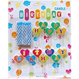 Partysanthe Happy Birthday Candle/ Magical Theme Candle With Happy Birthday Letters/ Party Supplies/Decoration/Happy Birthday Theme/Magic Theme(5 Pcs) With Happy Birthday Letters