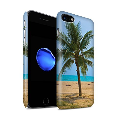 STUFF4 Matte Snap-On Hülle / Case für Apple iPhone 8 / Feuerwerk Muster / Thailand Landschaft Kollektion Palme